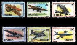 RHODESIA, 1978, Mint Never  Hinged Stamp(s) 75 Years Aviation, MI Nrs. 221-226, #135 - Rhodesia (1964-1980)