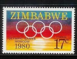 ZIMBABWE, 1980, Mint Never Hinged Stamp(s) Olympic Games Moscow, MI Nr(s). 246, #5072 - Zimbabwe (1980-...)