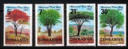 ZIMBABWE, 1981, Mint Never Hinged Stamp(s) Trees, MI Nr(s). 255-258, #5075 - Zimbabwe (1980-...)