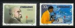 ZIMBABWE, 1982, Mint Never Hinged Stamp(s) Robert Koch, MI Nr(s). 269-270, #5078 - Zimbabwe (1980-...)