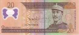 Rque DOMINICAINE    20  Pesos Oro   Emission De 2009    Pick 182   Polymer        ***** BILLET  NEUF ***** - Dominicaine