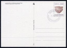 DENMARK 1992 National Musuem  Postal Stationery Card, Cancelled.  Nr. CP3 - Postal Stationery