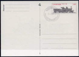 DENMARK 1991 Steam Locomotive  Postal Stationery Card, Cancelled.  Nr. CP1 - Postal Stationery