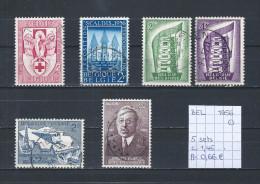 België 1956 - 5 Sets Gest./obl./used - Belgium