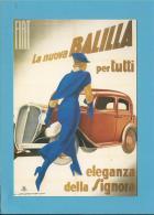 FIAT Balilla - 1934 - PUBLICIDADE - Advertising - Portugal - 2 SCANS - Voitures De Tourisme