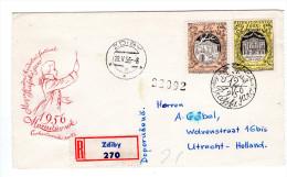 TCHECOSLOVAQUIE LETTRE 1956 MUSIQUE MOZART RECOMMANDE DE CZDIBY - Tchécoslovaquie