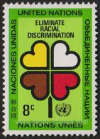 United Nations - New York Headquarters, Sc 220, SG 220 Mint, Hinged - 1971 8c.  - Plants, Year Of, Heart - New York – UN Headquarters