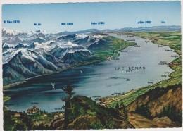 SUISSE,SWITZERLAND,SWISS, HELVETIA,SCHWEIZ,lac Leman,relief,glacier,carte,map Jaeger - Suisse