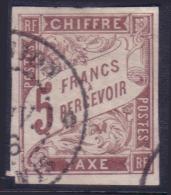 *RARE* 5Fr Taxe Marron Oblitéré  Saint Denis Réunion TB (cote +++€) - Timbres-taxe