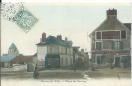 CERNAY LA VILLE : Place De Cernay - Belle CPA En Couleurs Postée En 1905 - Cernay-la-Ville