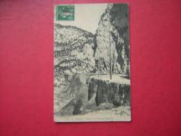 CPA  URDOS  GORGE SUR LA ROUTE D'ESPAGNE     VOYAGEE 1911 TIMBRE - Frankreich