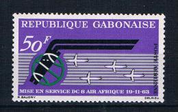 Gabun 1963 Flugzeuge Mi.Nr. 190 ** - Gabon (1960-...)