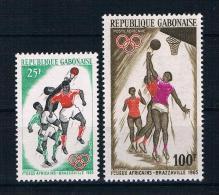 Gabun 1965 Sport Mi.Nr. 225/26 Kpl. Satz ** - Gabun (1960-...)