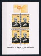 Gabun 1968 Adenauer Block 9 ** - Gabun (1960-...)