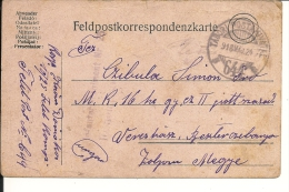 Carte Lettre Militaire , Feldpost, 1918 Pour La Hongrie  (729) - 1850-1918 Imperium