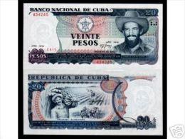 CUBA/KUBA 1991 BANCONOTA 20 PESOS FIOR DI STAMPA
