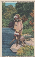 Chief Lone Eagle And Scout On Expedition On Cherokee Indian             Scan 8392 - Personnages Historiques