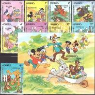 Walt Disney  MiNr.  841 - 850 (Block 87) Dominica   MNH / ** / POSTFRISCH - Disney