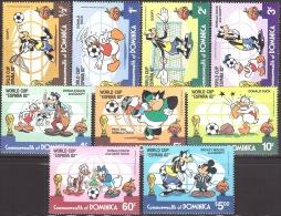 Walt Disney  MiNr. 758 - 766 Dominica  MNH / ** / POSTFRISCH - Disney