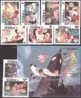 Walt Disney  MiNr. 691 - 700 (Block 65) Dominica  MNH / ** / POSTFRISCH - Disney