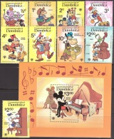 Walt Disney  MiNr. 657 - 666 (Block 60) Dominica  MNH / ** / POSTFRISCH - Disney