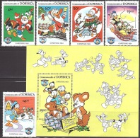 Walt Disney  MiNr. 894 - 899 (Block 95) Dominica  MNH / ** / POSTFRISCH - Disney