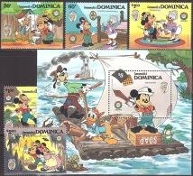 Walt Disney MiNr. 933 - 938 (Block 103) Dominica  MNH / ** / POSTFRISCH - Disney