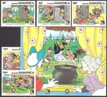 Walt Disney  MiNr. 939 - 944 (Block 104) Dominica  MNH / ** / POSTFRISCH - Disney