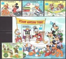 Walt Disney  MiNr. 968 - 972 (Block 110) Dominica  MNH / ** / POSTFRISCH - Disney