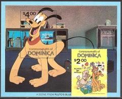 Walt Disney  MiNr. 706 - 707 (Block 67) Dominica  MNH / ** / POSTFRISCH - Disney