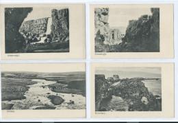 4 CARTES ISLANDE ALMANNAGJA DYRHOLAEY ELLIDAAR 2 Scans (R2 FREE SHIPPING REGISTERED)