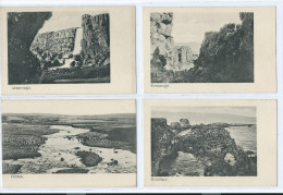 4 CARTES ISLANDE ALMANNAGJA DYRHOLAEY ELLIDAAR 2 Scans (R2 FREE SHIPPING REGISTERED) - Islande
