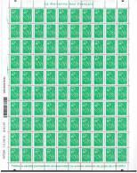 151 - Lamouche Philaposte TVP Vert [Y&T 3733d] Sans Phosphore Total - Feuille Complète à 4% De La Cote - Variétés Et Curiosités