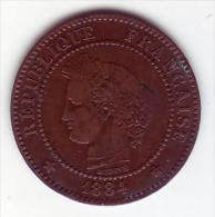 Cérès. 2 Centimes 1884 A . - France