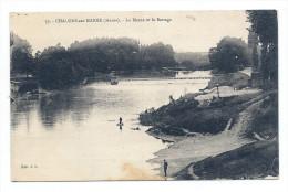 CPA Châlons-sur-Marne - La Marne Et Le Barrage - Pêcheurs - Châlons-sur-Marne