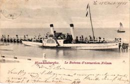 Blankenberge 6 CPA Visser '12 Baders '12 Post 1902 Excursieboot Nelson 1901 Visserstr Estaminet In Den Appel Reddingboot - Blankenberge