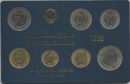 Yugoslavia 1985. Coin Set Mint Set Of The National Bank Of Yugoslavia - Joegoslavië