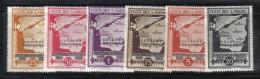 Z920 - SAN MARINO 1943 , Posta Aerea  Serie N. 42/47  *  Mint . Governo Provvisorio - Airmail