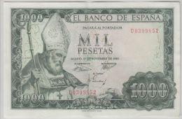 B00362 1000 Ptas 19 Nov 1965, U0399852,  About XF, Pick 151 - [ 3] 1936-1975: Regime Van Franco
