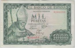 B00363 1000 Ptas 19 Nov 1965, M2940389,  VF, Pick 151 - [ 3] 1936-1975 : Régence De Franco