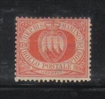 W2013 - SAN MARINO 1877 , 20 Cent Rosso N. 4  * Linguella Molto Forte - San Marino