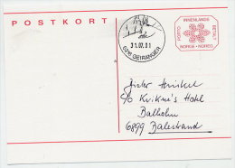 NORWAY 1996 (3.50 Kr) Postal Stationery Card, Used Without Text.  Michel P195 - Entiers Postaux