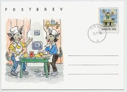 NORWAY 1984 Childrens Book Illustration Postal Stationery Letter Sheet, Cancelled.  Michel K56 - Postal Stationery