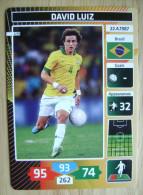 2014 PANINI CARD (NOT STICKER) FIFA SOCCER WORLD CUP DAVID LUIZ BRASIL - Andere