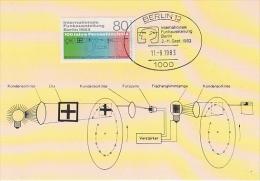 Berlin 1983 Funkausstellung Berlin 1v Maximum Card (17515) - [5] Berlijn