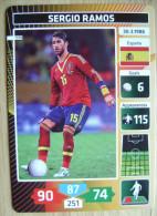 2014 PANINI CARD (NOT STICKER) FIFA SOCCER WORLD CUP SERGIO RAMOS SPAIN ESPANA - Panini