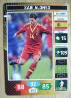 2014 PANINI CARD (NOT STICKER) FIFA SOCCER WORLD CUP XABI ALONSO SPAIN ESPANA - Andere