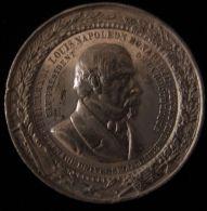 M01729 LOUIS NAPOLEON BONAPARTE  - PRESIDENT DE LA REPUBLIQUE - Son Profil (28.9g)  DEVOIRS De La CONSTITUTION Au Revers - Royal / Of Nobility