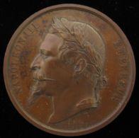 M01730 NAPOLEON III EMPEREUR - Son Profil - (65.4g) Mr. BARBERRY - CONCOURS AGRICOLE - ARRAS - 1862 Au Revers - Adel