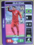 2014 PANINI CARD (NOT STICKER) FIFA SOCCER WORLD CUP JULIO CESAR BRASIL - Panini